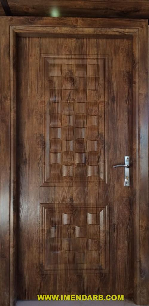 درب چوبی با روکش pvc برجسته