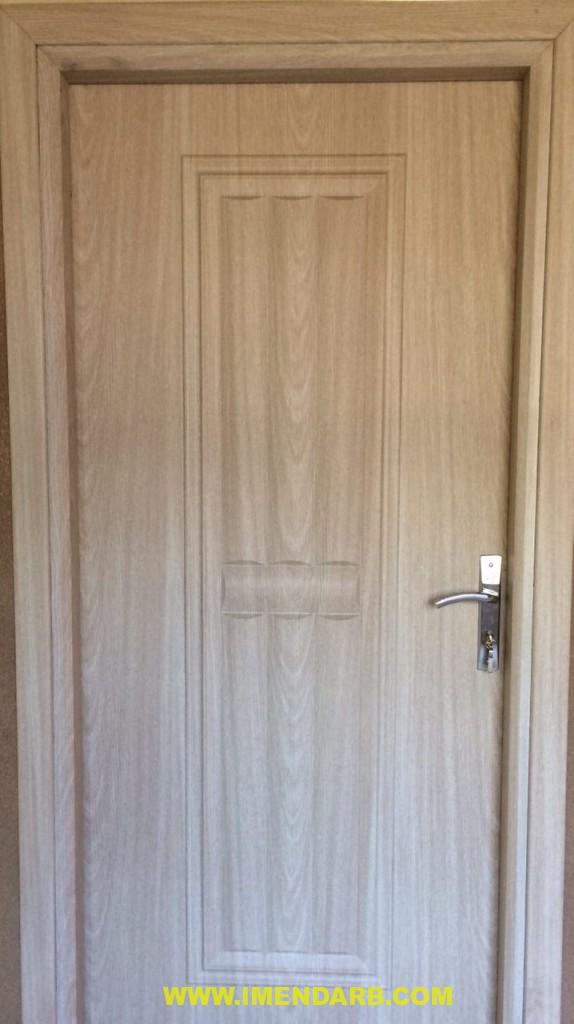 درب چوبی برجسته با روکش ملچ